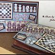 チェスモチーフの プレート&BOX