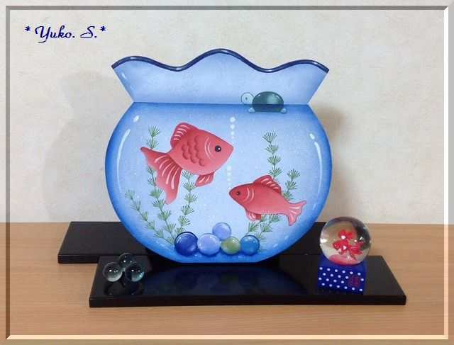 夏の風物詩・金魚鉢