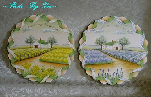 菜の花畑の風景 & ラベンダー畑の風景