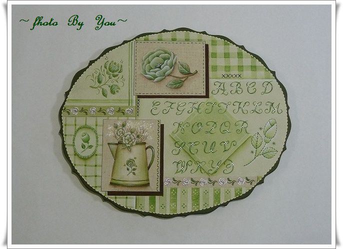 ~Rose  &  Alphabets  Sample(緑バージョン)~