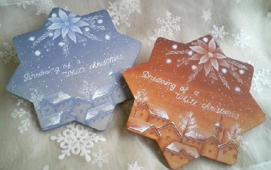 *冬*シンプルカラーのクリスマスプレート