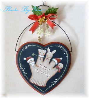 *冬*クリスマスハートプラーク